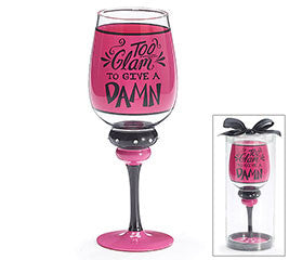 Too Glam Stem Glass, [Premier Gifts and Balloons], Drinkware, Premier Gifts 'n Balloons