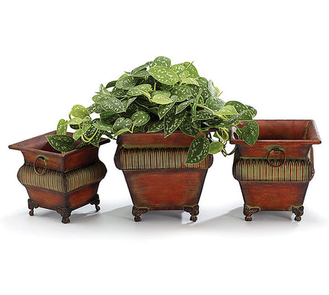 3pc. Nested Tin Planter, [Premier Gifts and Balloons], Lawn and Garden, Premier Gifts 'n Balloons