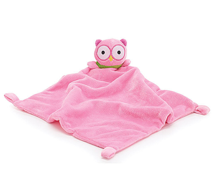 Owl Security Blanket Pink, [Premier Gifts and Balloons], Premier Baby, Premier Gifts 'n Balloons