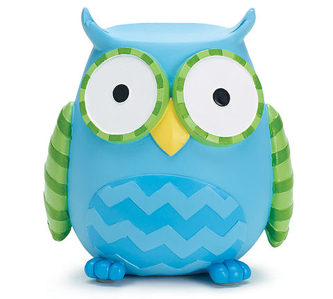 Blue Owl Bank, [Premier Gifts and Balloons], Ceramic Gifts, Premier Gifts 'n Balloons