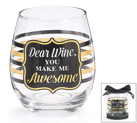 Awesome Stemless Glass, [Premier Gifts and Balloons], Drinkware, Premier Gifts 'n Balloons