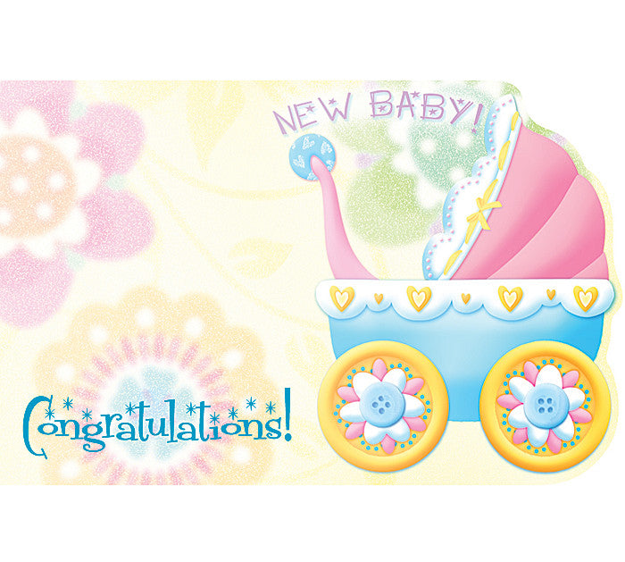 New Baby Enclosure Card, [Premier Gifts and Balloons], Paper Goods, Premier Gifts 'n Balloons