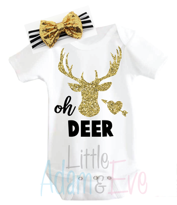 Oh Deer! Set Onesie + Headband, [Premier Gifts and Balloons], Baby Clothes, Premier Gifts 'n Balloons