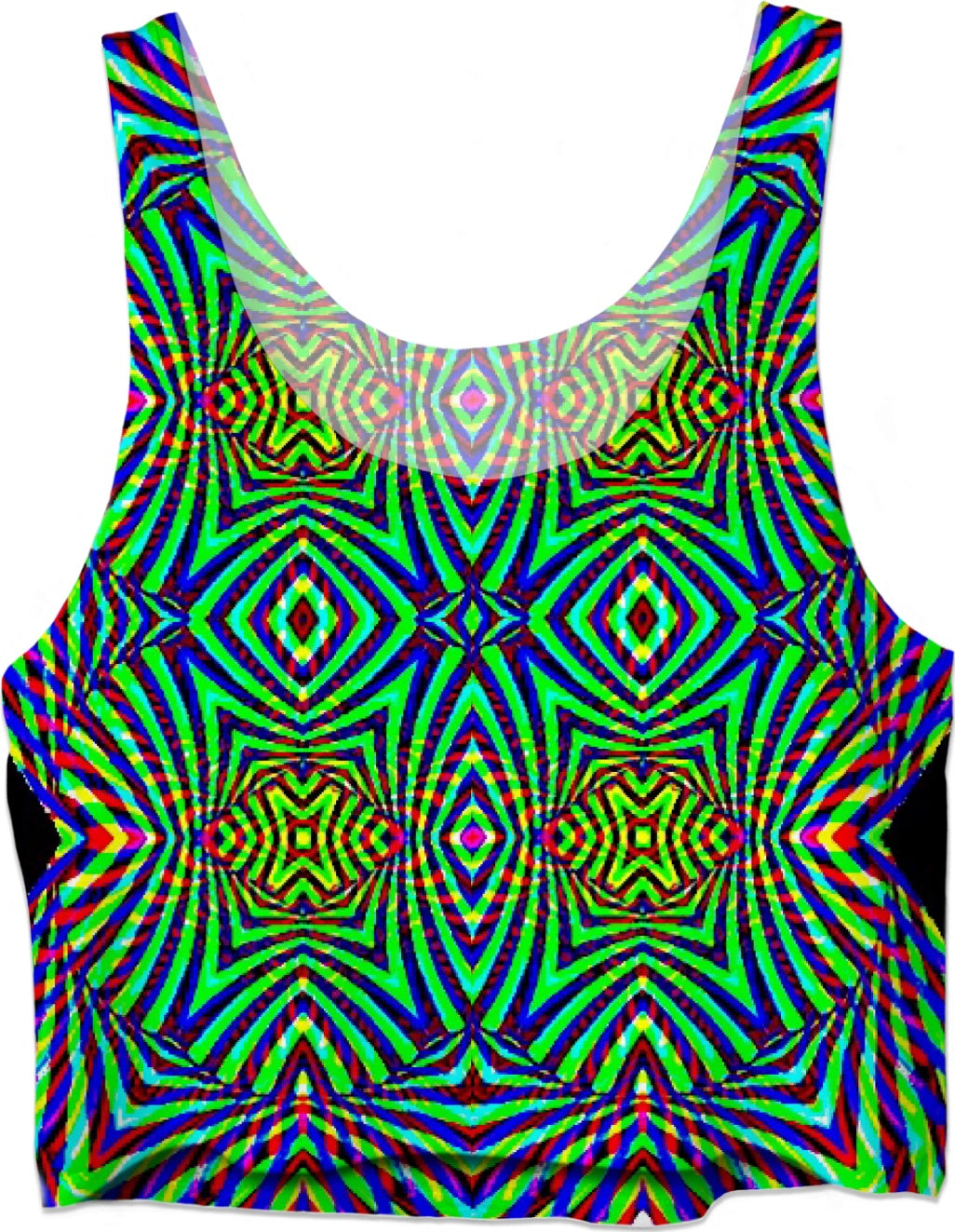 Cosmic Rainbow Aura - Luxe Design Crop Top