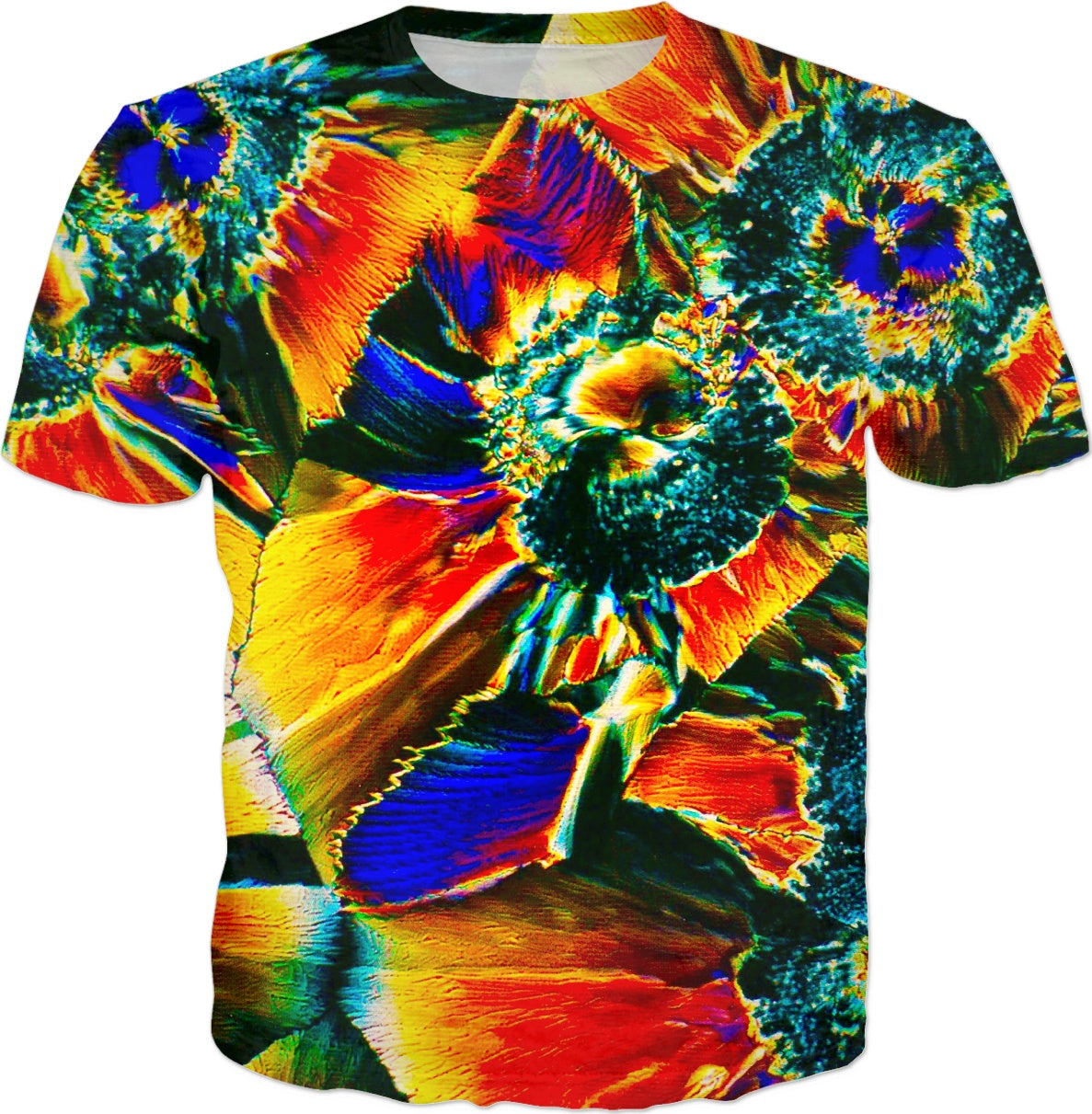 Crystal Cosmic Flower - Luxe Design T-shirt