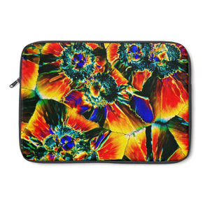 """Crystal Flower"" Crystal Design Beautiful Colorful Laptop Sleeve"