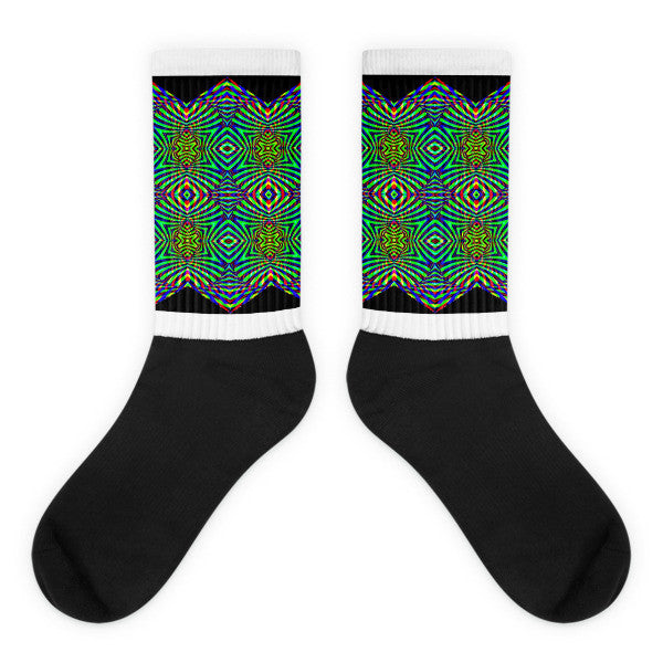 Black Angel Socks - Dope Design
