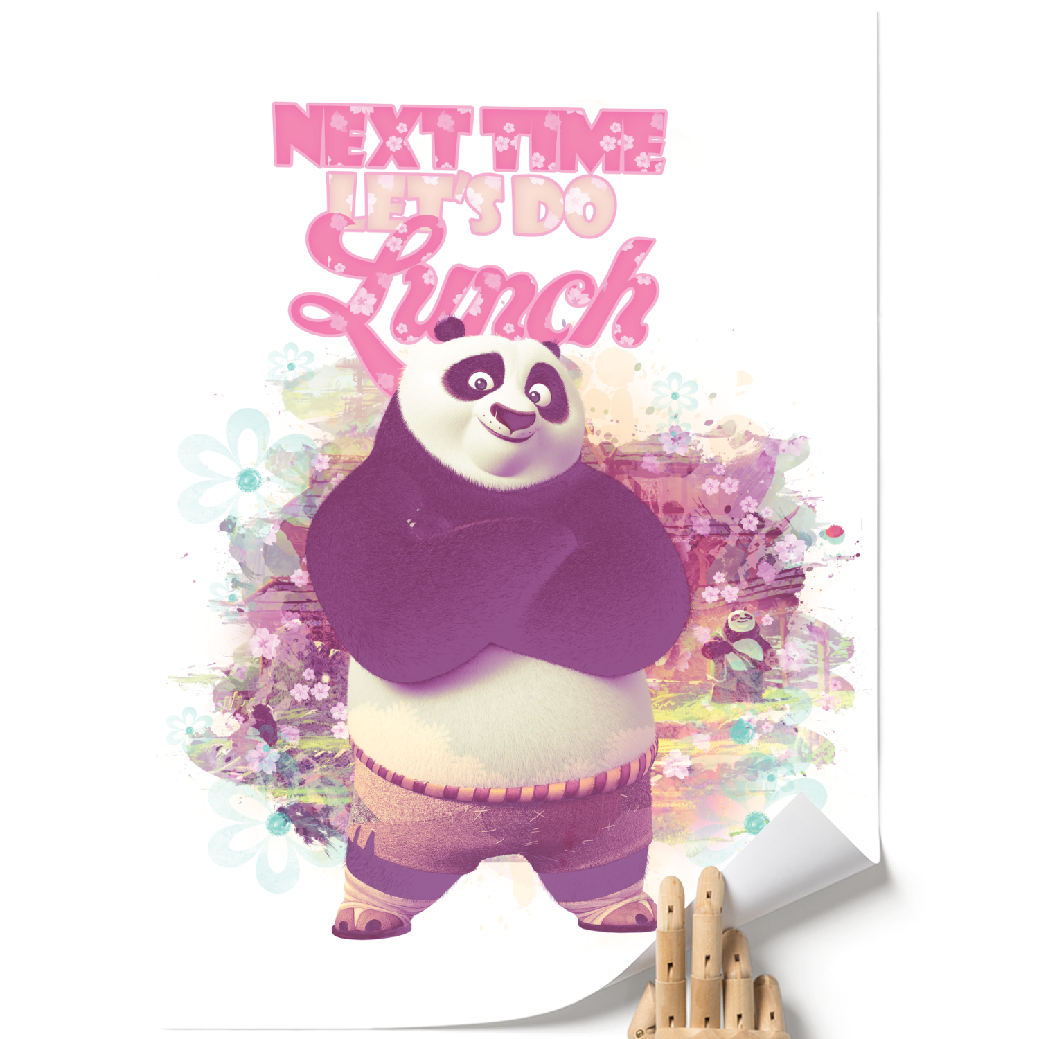 A3 Poster - Next Time Let's Do Lunch - Kung Fu Panda