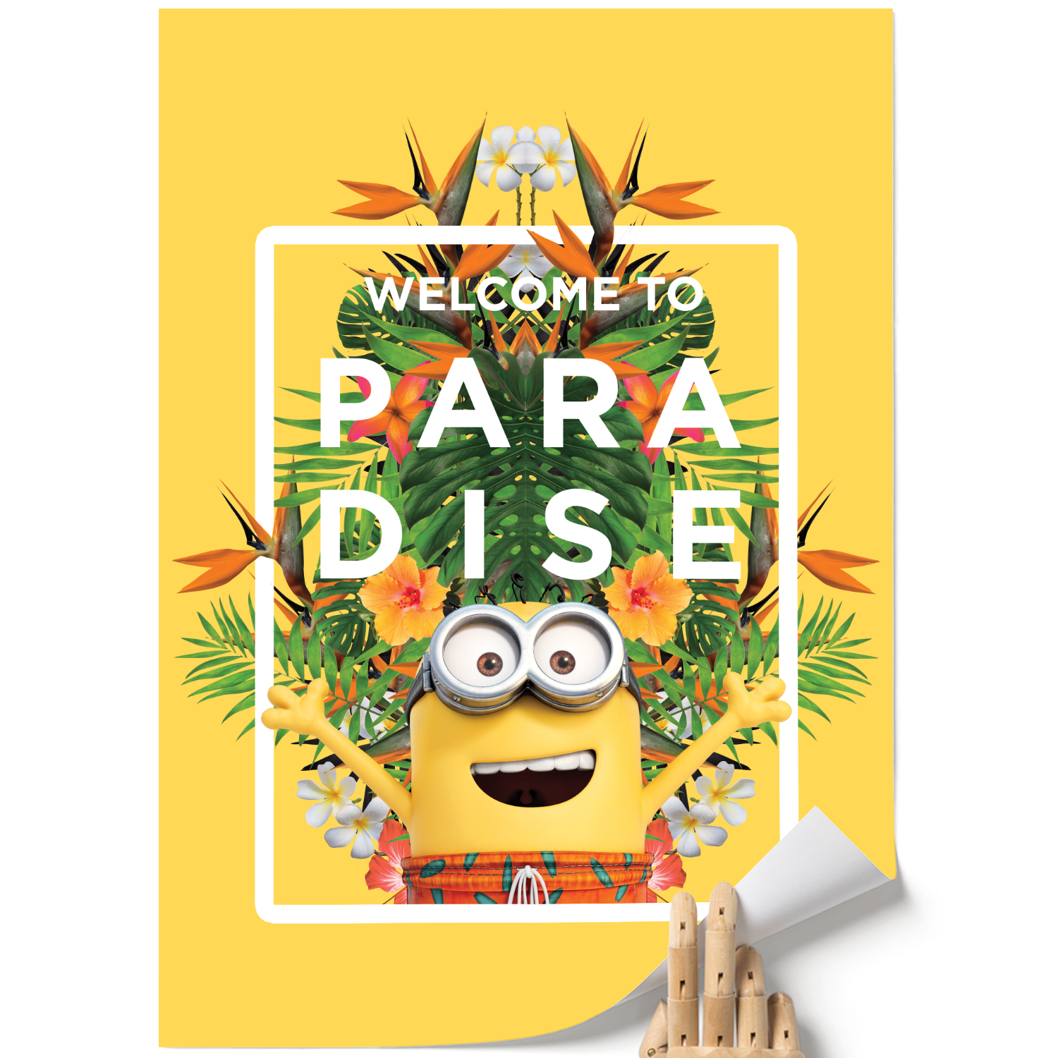 A3 Poster - Welcome To Paradise - Despicable Me/Minions