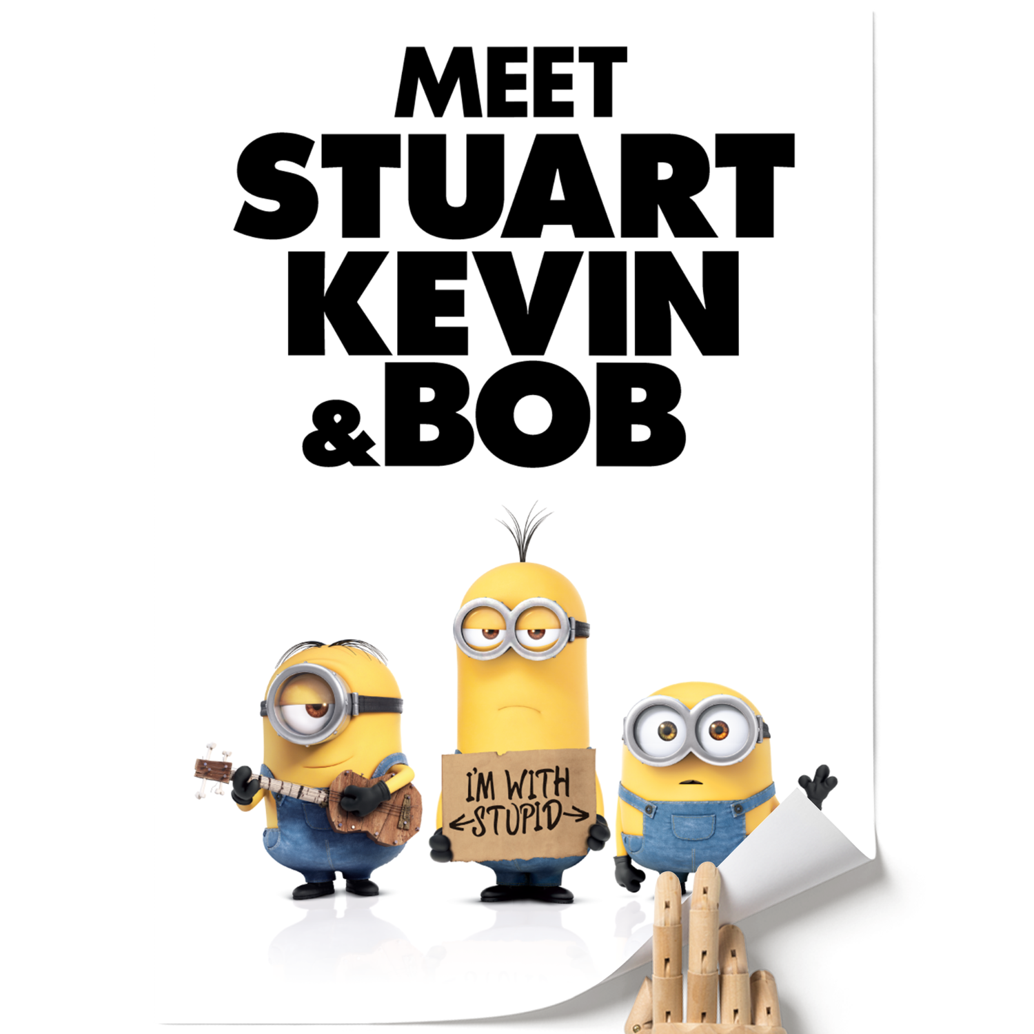 A3 Poster - I'm with Stupid - Despicable Me/Minions