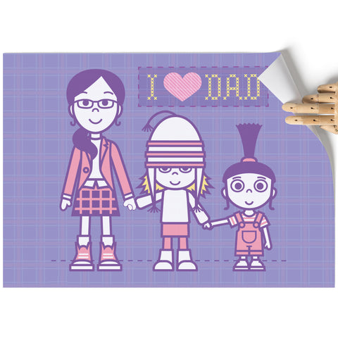 A3 Poster - I Love Dad - Despicable Me/Minions