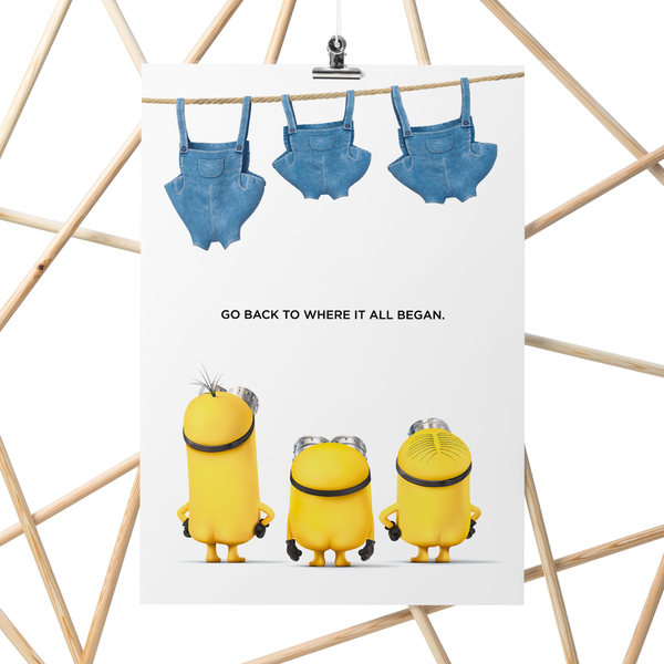 A3 Poster - Minions Pants Out - Despicable Me/Minions