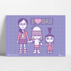 B2 Poster - I Love Dad - Despicable Me/Minions
