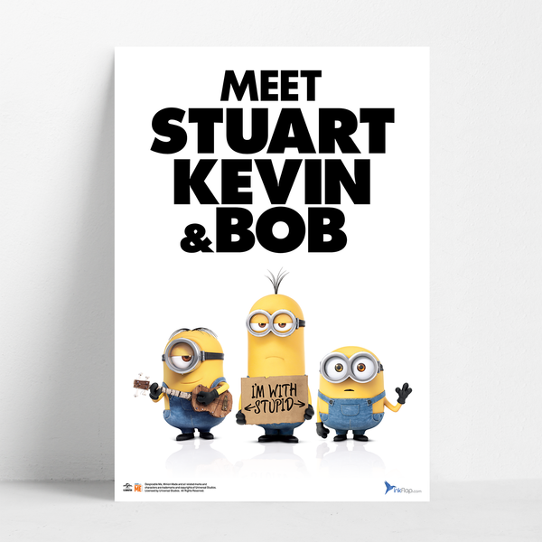B2 Poster - I'm with Stupid - Despicable Me/Minions