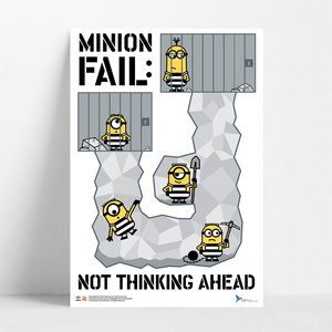 B2 Poster - Minion Fail - Despicable Me/Minions