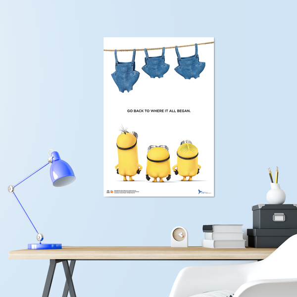 B2 Poster - Minions Pants Out - Despicable Me/Minions