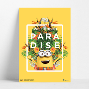 B2 Poster - Welcome to Paradise - Despicable Me/Minions