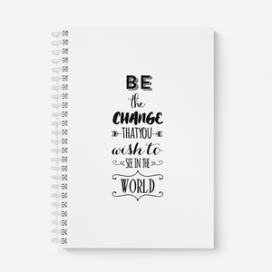 Be The Change (White) - Wiro Quote Notebooks