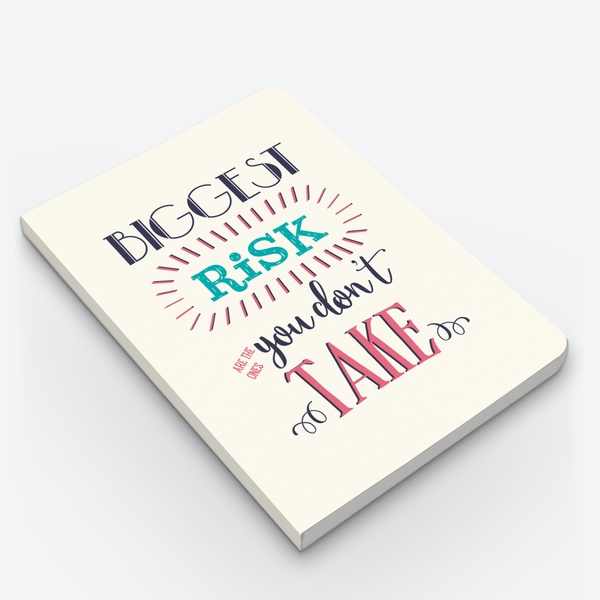 Inspirational quote notebook