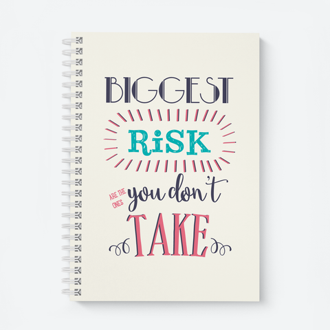 Biggest Risk - Wiro Quote Notebooks