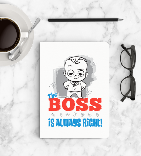 Softbound Notebook Boss Baby top view