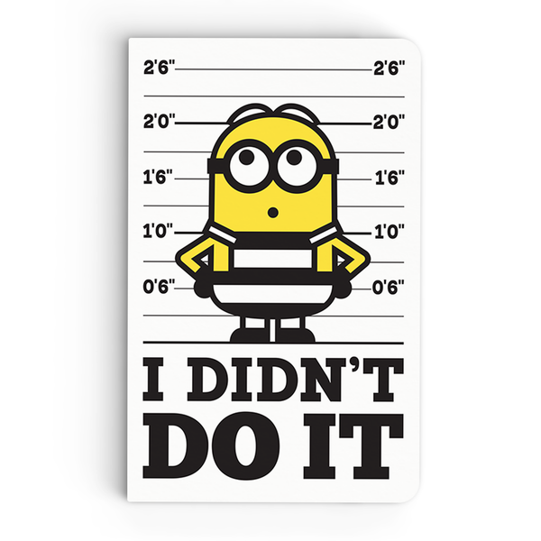 Thin Notebook - I Didn't Do It - Despicable Me/Minions