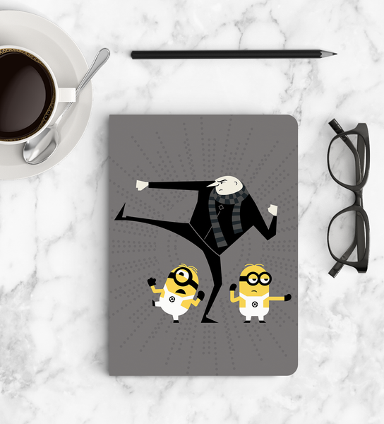 Softbound Notebook Minions top view