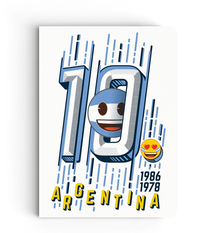 Limited Edition Notebook - Argentina - Emoji Soccer Edition