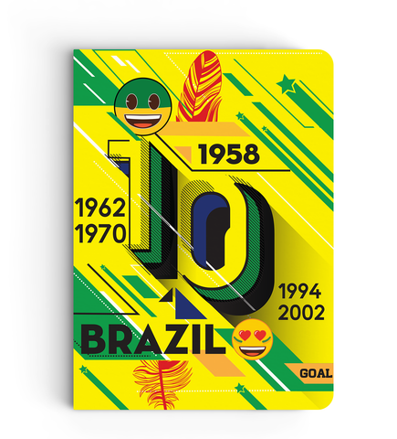 Limited Edition Notebook - Brazil - Emoji Soccer Edition