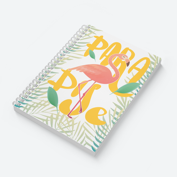 Flamingo Paradise & Leaf Pattern Combo - Pack of 2 - Wiro Notebooks