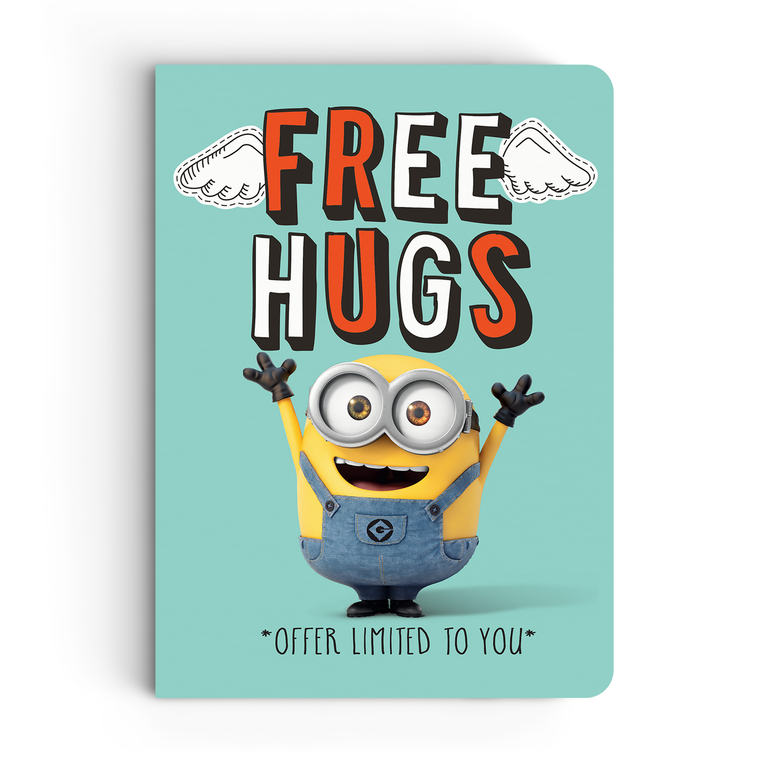 Limited Edition Notebook - Free Hugs - Valentine's Day - Despicable Me/Minions