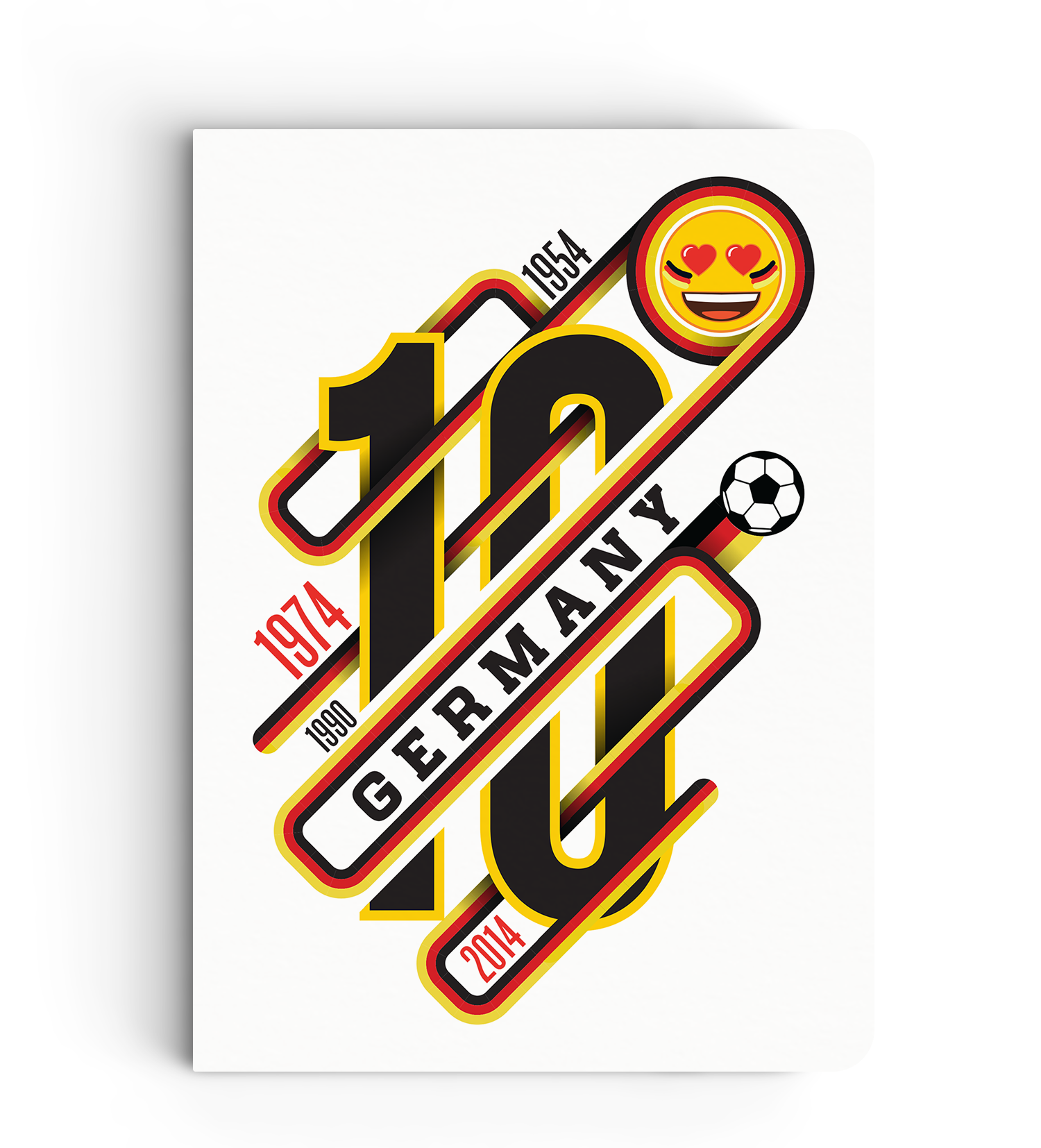 Limited Edition Notebook - Germany Victory Years - Emoji Soccer Edition