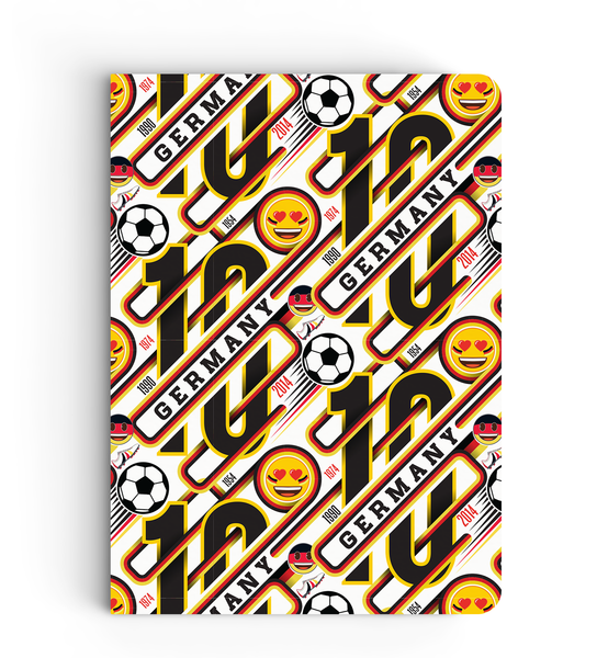 Limited Edition Notebook - Germany Victory Pattern - Emoji Soccer Edition