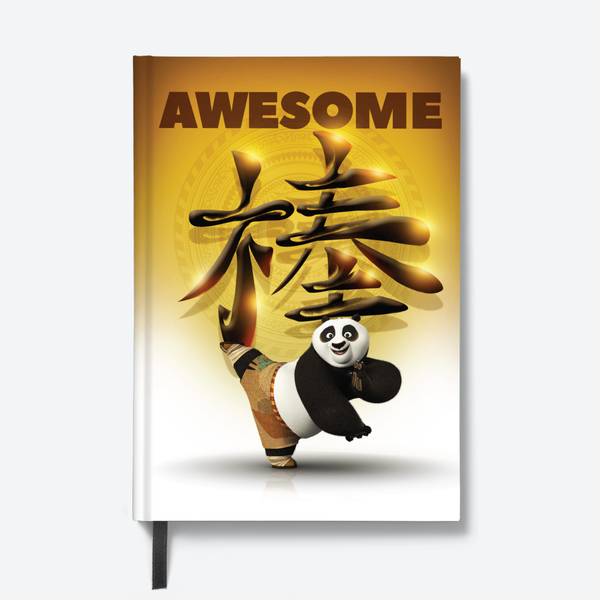 Kung Fu Panda- Hardbound Notebook- Awesome Panda