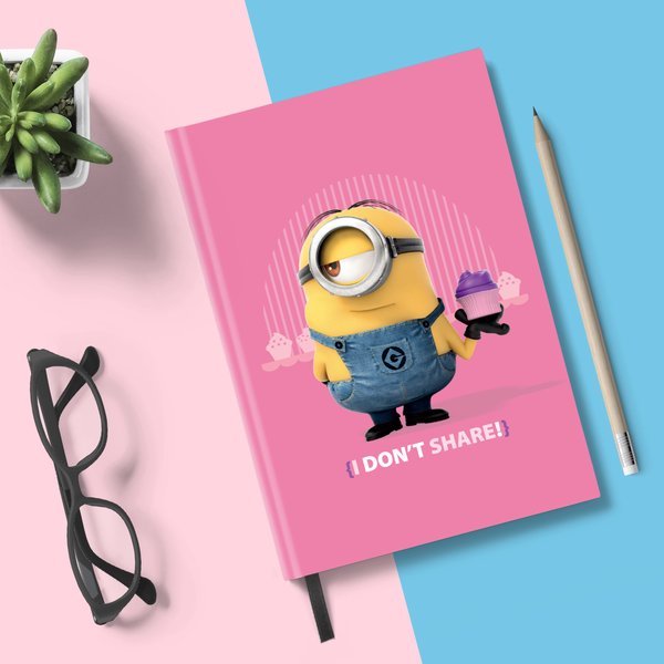 Flapbook Hardbound - I Don't Share - Despicable Me/Minions