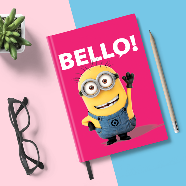 Minions- Hardbound Notebook- Friendly Bello