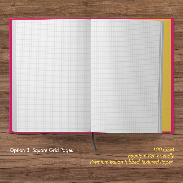 Minions- Hardbound Notebook- Friendly Bello- Square Grid Pages