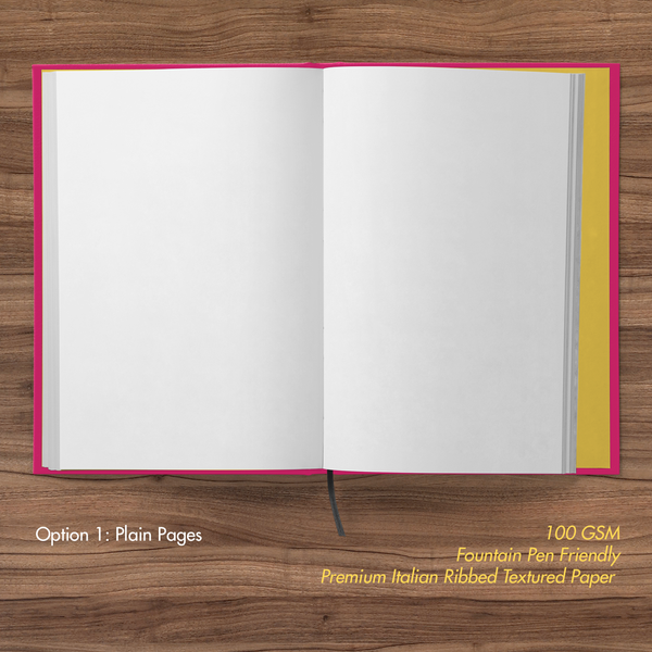 Minions- Hardbound Notebook- Friendly Bello- Plain pages
