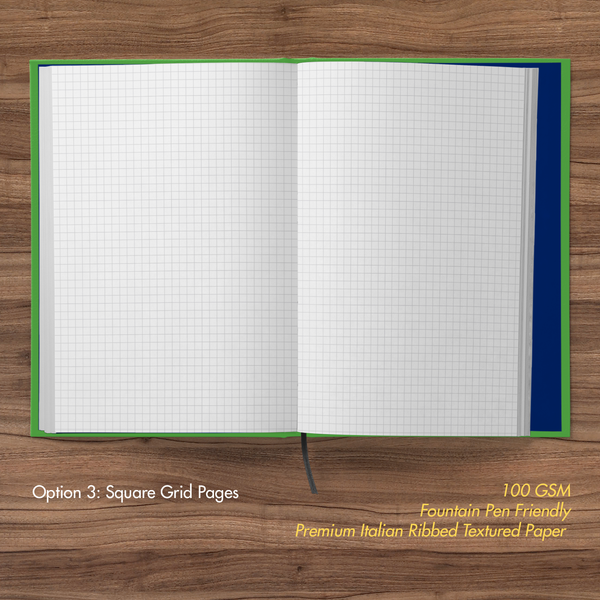 Minions- Hardbound Notebook- Go Bananas- Square Grid Pages