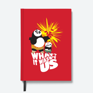Flapbook Hardbound - It Wasn't Us - Kung Fu Panda