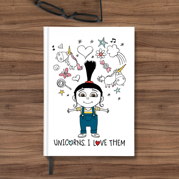 Flapbook Hardbound - Unicorns, I Love Them - Despicable Me/Minions