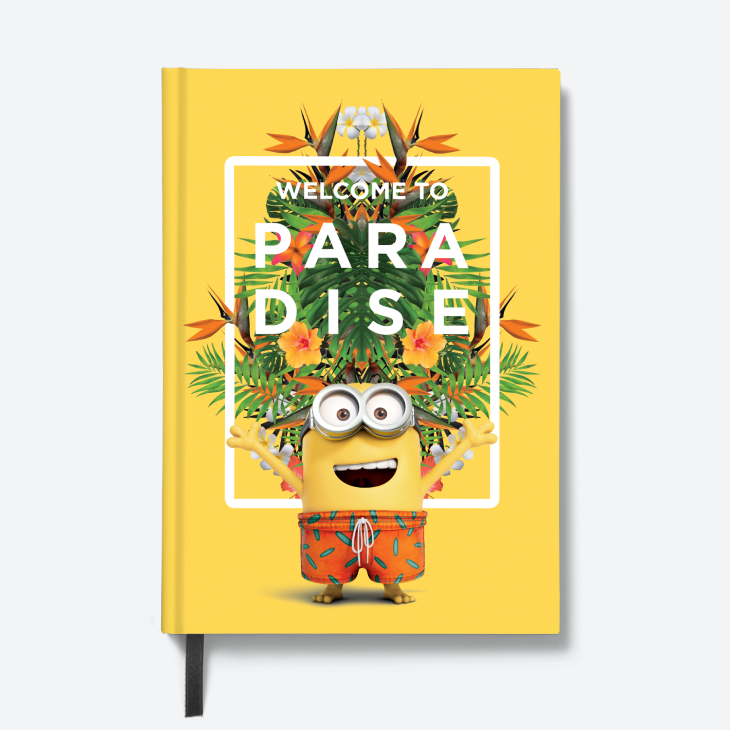 Flapbook Hardbound - Welcome to Paradise - Despicable Me/Minions