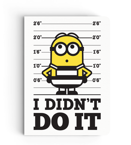 Notebook - I Didn't Do It - Despicable Me/Minion
