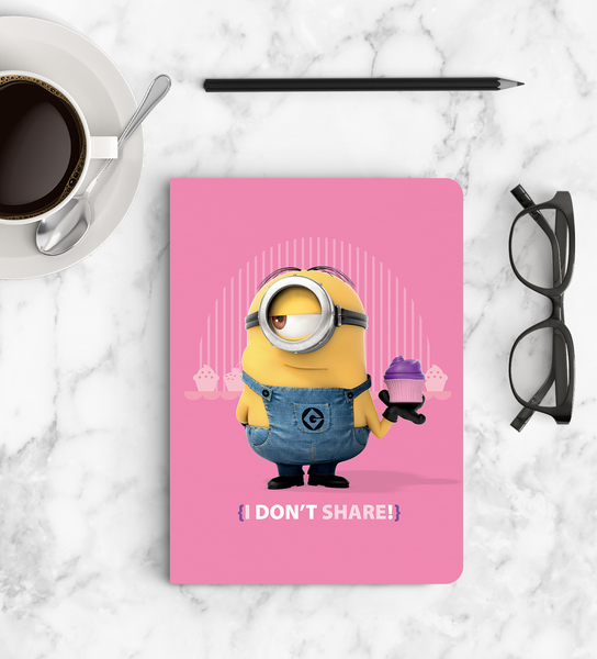 Notebook - I Don't Share - Despicable Me/Minions