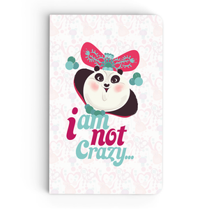 Thin Notebook - I am not crazy - Kung Fu Panda