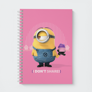 Wiro Notebook - I Don't Share - Despicable Me/Minions