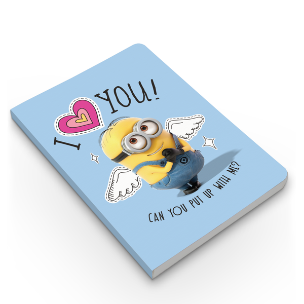 Limited Edition Notebook - I Love You - Valentine's Day - Despicable Me/Minions
