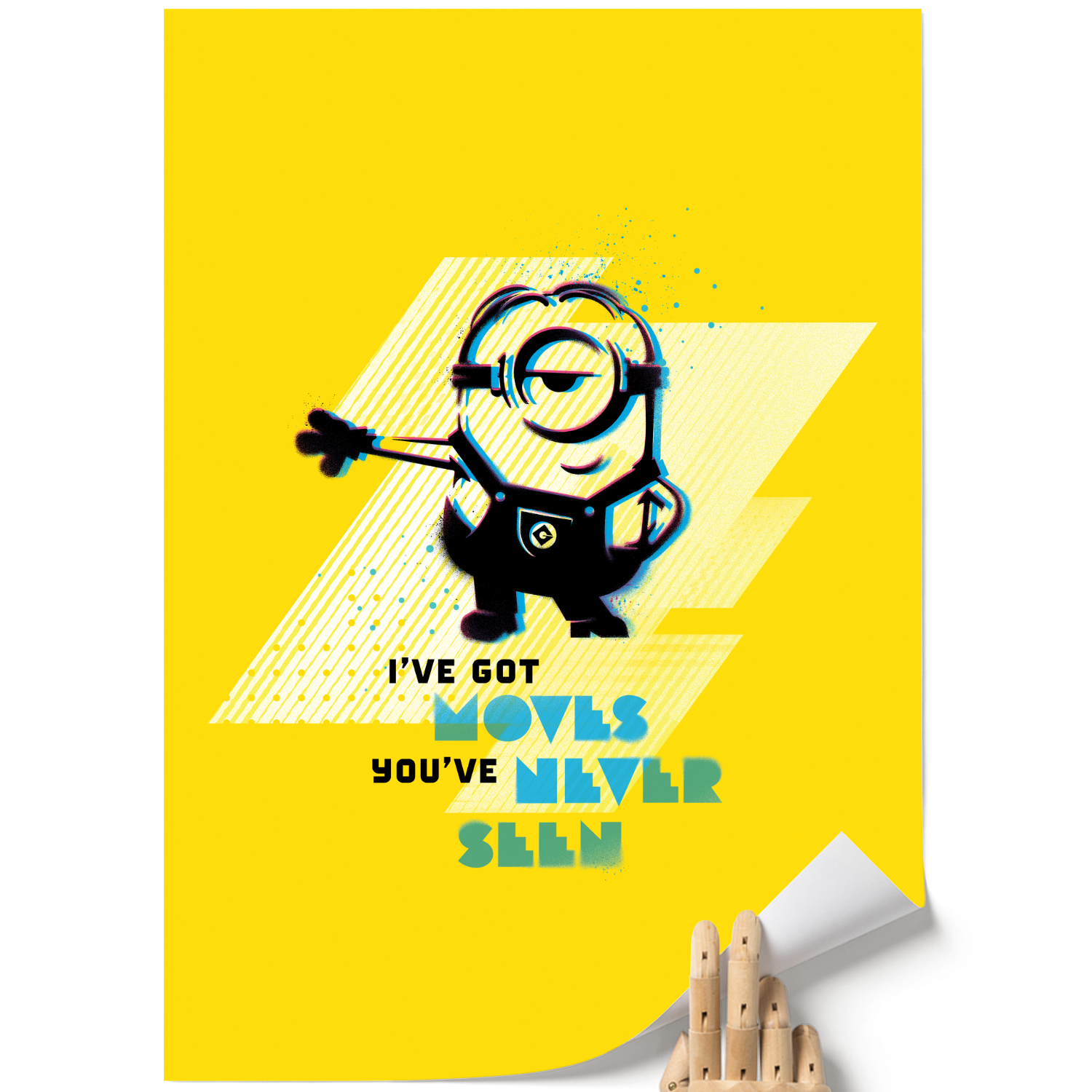 A3 Poster - I've Got Moves - Despicable Me/Minions