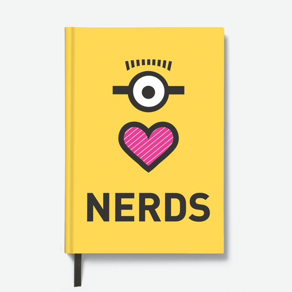 Hardbound Notebook - Love Nerds - Despicable Me/Minions