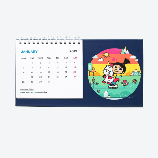 Wiro Desk Calendar - Unicorn Love Calendar 2019 - Despicable Me/Minions